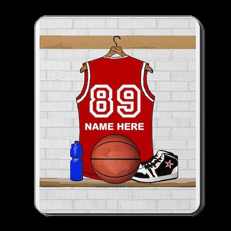Personalized Basketball Jerse Mousepad