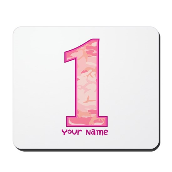 1st Birthday Personalized Pink Camo