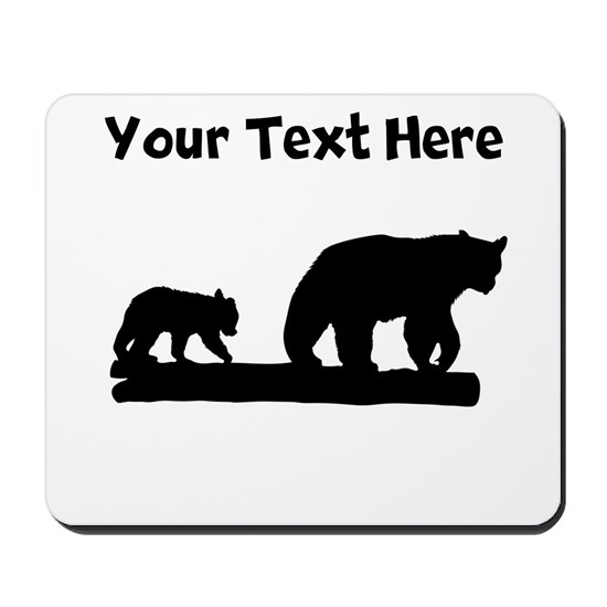 Bear And Cub Silhouette