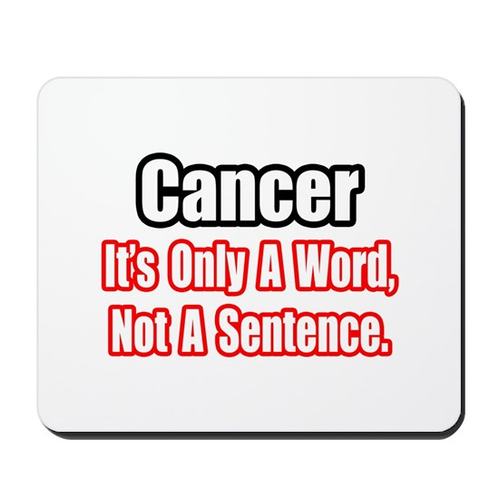 cancer word sentence