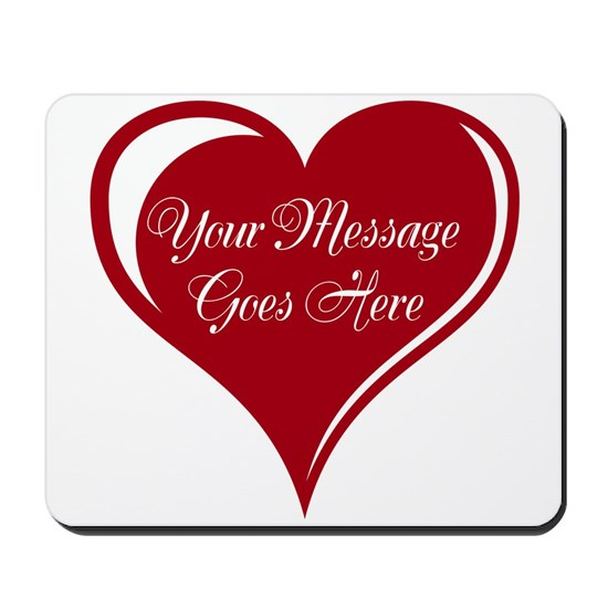 Your Custom Message in a Heart