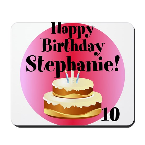Front Personalized Name Age Birthday Cake Pink