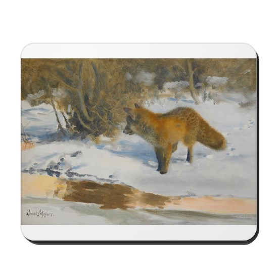 Winter Scene with Fox
