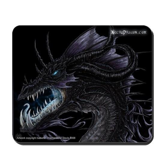 Black Ice Dragon Mousepad