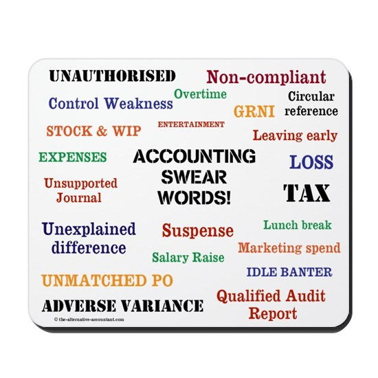 Accounting Swear Words