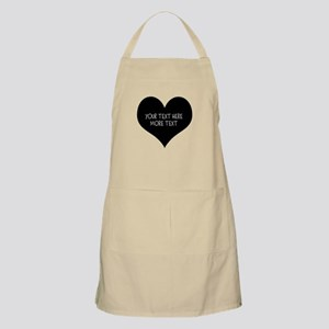 Personalize Black Heart Baking Apron For Mom