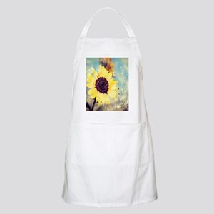 romantic summer watercolor sunflower Apron