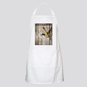 rustic western wood duck Apron