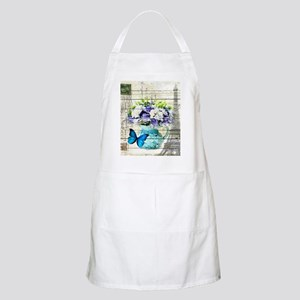 blue floral paris eiffel tower Apron