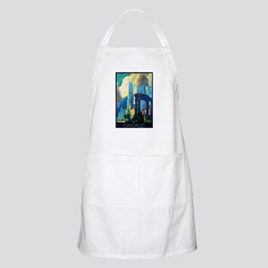 Chicago Travel Poster 3 Apron