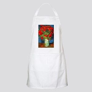 Van Gogh Red Poppies Floral Light Apron