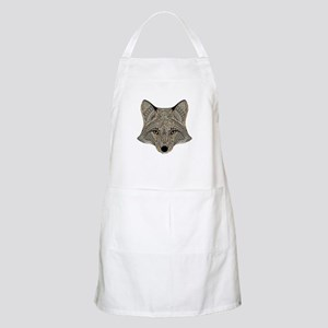 Metallic fox 3d digital art Light Apron