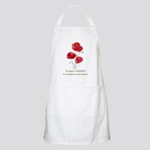 Red Poppy Plant a Garden Quote Apron