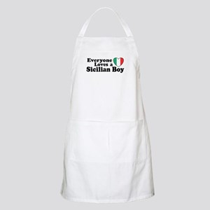 Everyone Loves a Sicilian Boy  BBQ Apron
