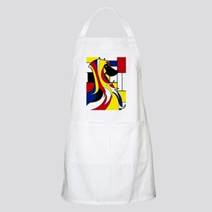 Geometric Afghan Hound Abstract Apron