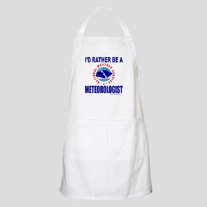 I'D RATHER BE A METEOROLOGIST Apron