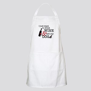 Wine and Dog Apron