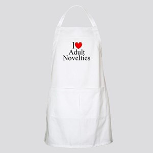 """I Love (Heart) Adult Novelties"" BBQ Apron"