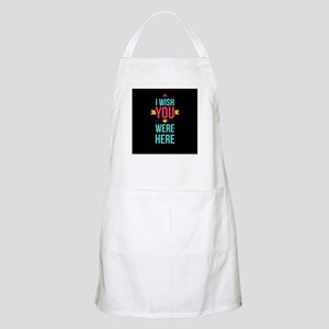 I Wish You Were Here Love Hearts Apron