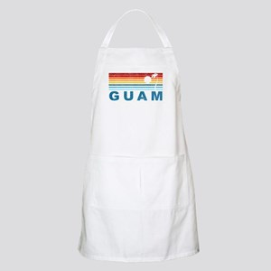 Retro Palm Tree Guam BBQ Apron