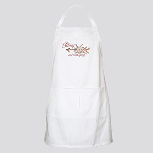 Strong and courageous Light Apron