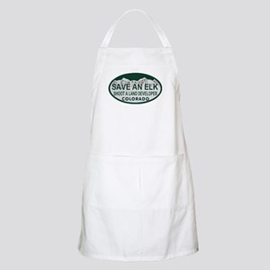 Save an Elk Colo License Plate Apron
