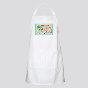 Kentucky Map Greetings Apron