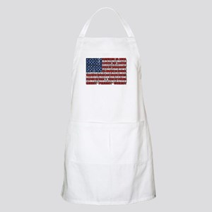 Political Protest American Flag Light Apron