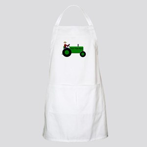 Personalized Green Tractor Apron
