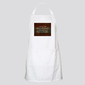 God is our Refuge Bible Scripture Christian Apron