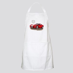 Viper Red/White Car BBQ Apron
