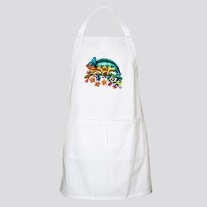 Colorful Camouflage Chameleon Light Apron