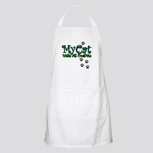 My Cat Walks All Over Me BBQ Apron
