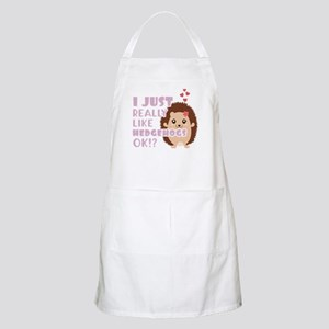 Cute Hedgehog Gift Gift I Just Really Light Apron