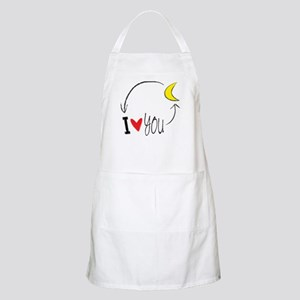 I love you to the moon and back Apron