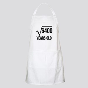 80 Years Old Square Root Apron