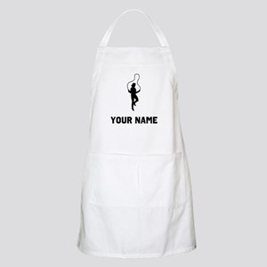 Woman Jumping Rope Silhouette Apron