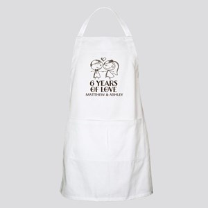 6th Wedding Anniversary Personalized Apron