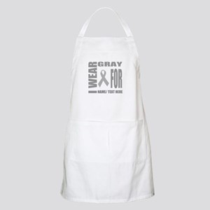 Gray Awareness Ribbon Customized Light Apron
