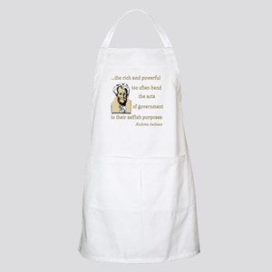 Andrew Jackson on the rich and powerful BBQ Apron