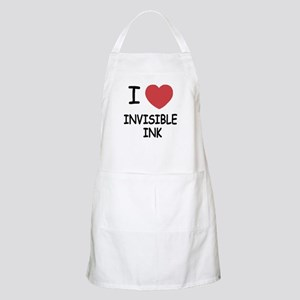 I heart invisible ink Apron