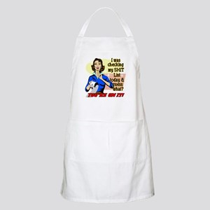 My @#$% List Retro 50's Humor Apron