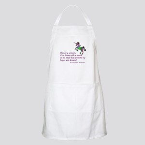Scrubs Unicorn Quotes Apron