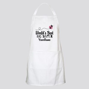 Worlds Best Big Sister - Personalized Apron