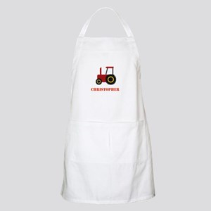 Personalised Red Tractor Apron