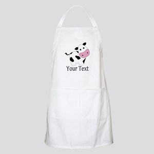 Personalizable Black and White Cow Apron