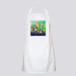 Watercolor Flowers Light Apron