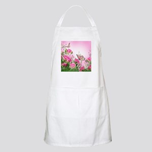 Butterfly Flowers Light Apron