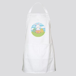 Easter Greetings Egg Hunt Bunny Holida Light Apron
