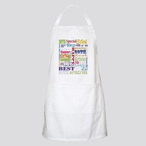 30th Birthday Typography Light Apron